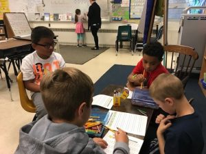 Students in a Manchester, New Hampshire classroom have an opportunity to develop their collaboration skills