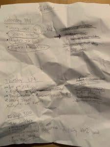 Garrett Assignment Tracking Sheet