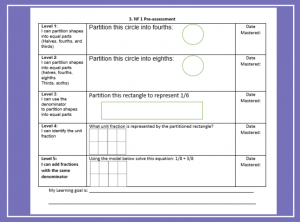 Example of Pre-Assessment Aligned to Learning Progression