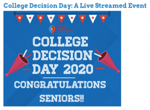 Announcement of College Decision Day 2020