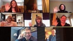 Zoom Screen With Many Faces Including Author Ann Hadwen