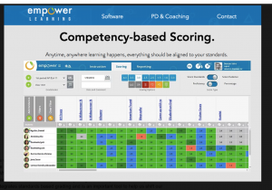 Competency-Based Scoring Screenshot from Empower Learning Management System