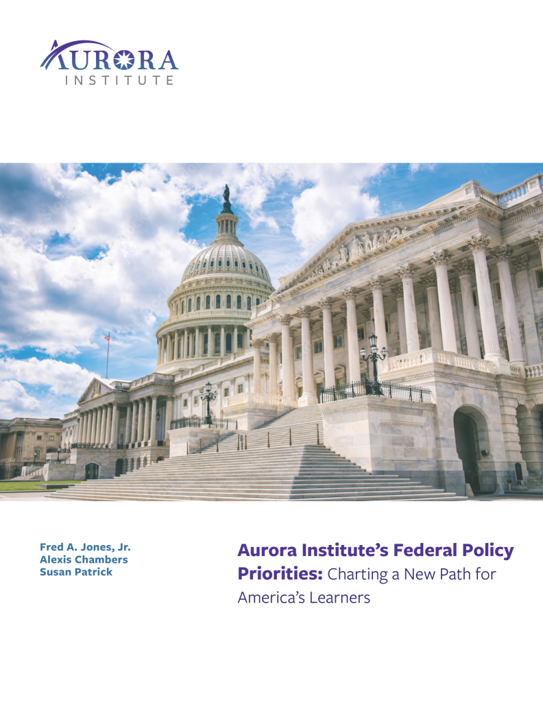 Aurora Institute's Federal Policy Priorities 2021 report cover image