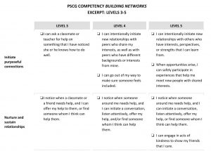 Excerpts of Building Networks Competency