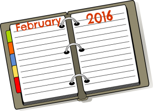 Calendar Page Feb