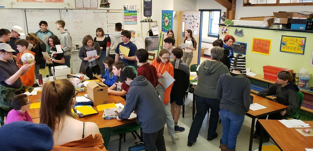 Busy Classroom, Lots of Activity