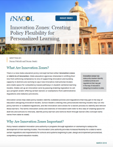 Innovation Zones cover page final