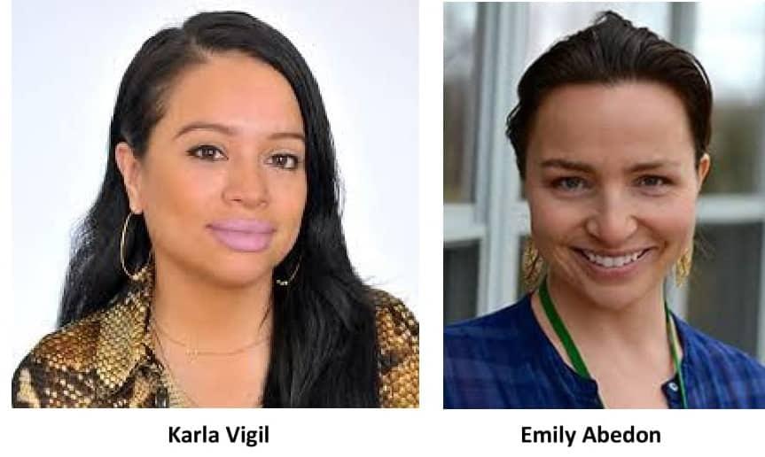 Karla Vigil and Emily Abedon