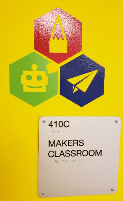 Maker Classroom Door Sign