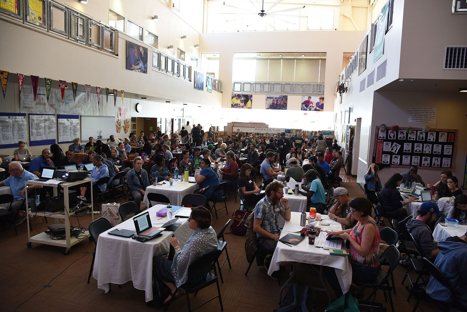 OUSD teachers gathered at MetWest High School for the Project Based Learning Institute