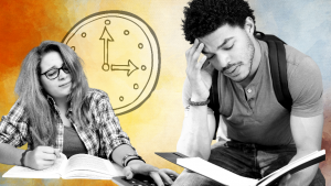 Two Students Working Under Time Pressure
