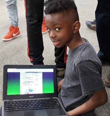Pioneer Ridge Student With Laptop