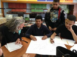 Students explain how they know what they know, at North Queens Community High School