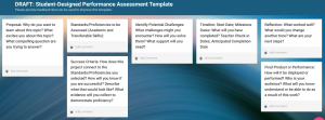 Student-Designed Performance Assessment Template