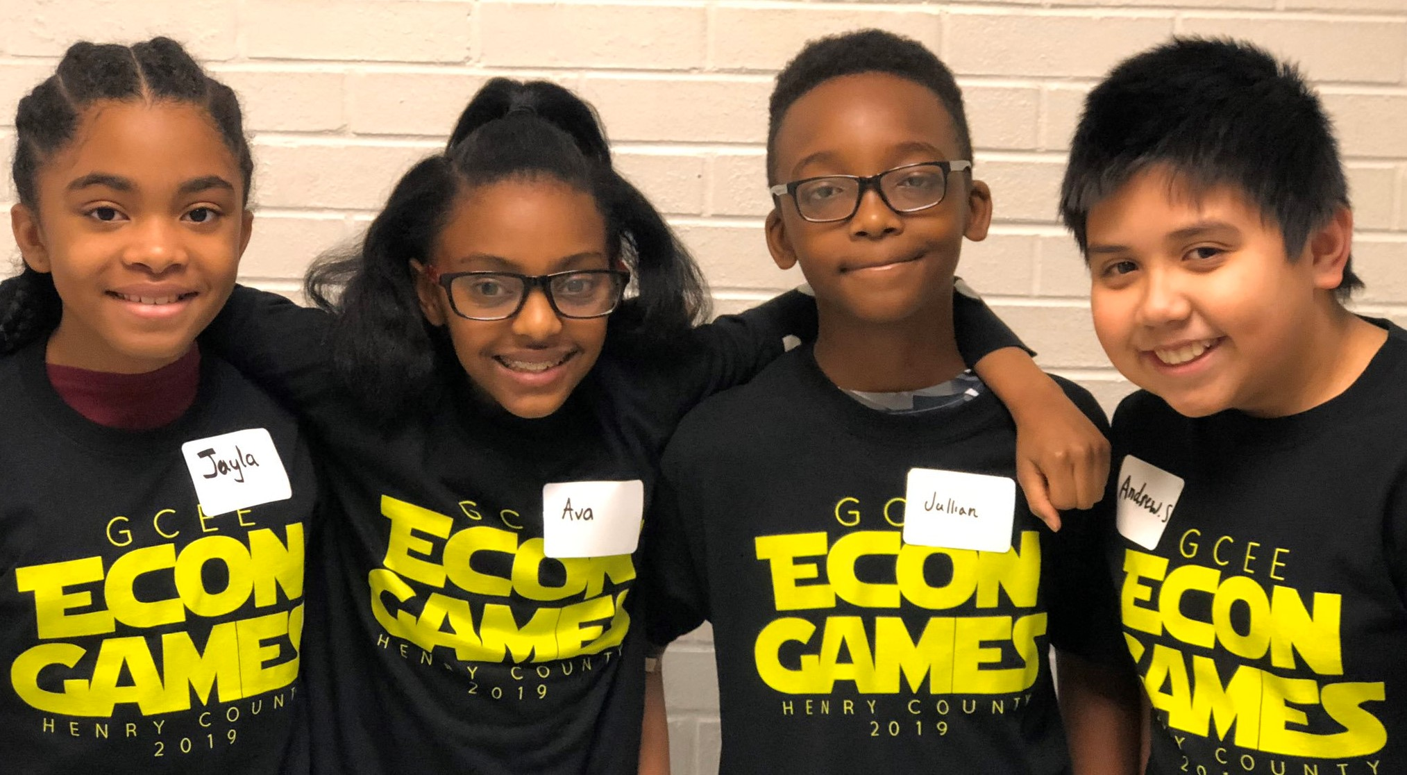 Four Henry County Students in Matching T-Shirts