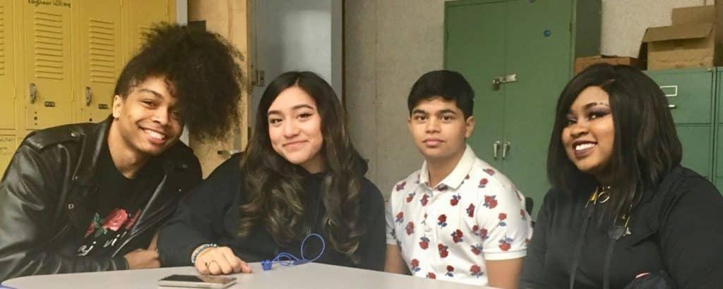 Photos of four graduates of the Urban Assembly Maker Academy