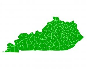 Detailed and accurate illustration of map of Kentucky