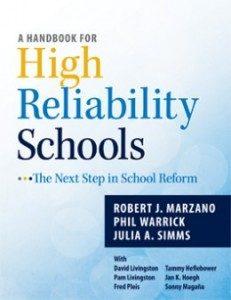 Handbook for High Reliability Schools cover